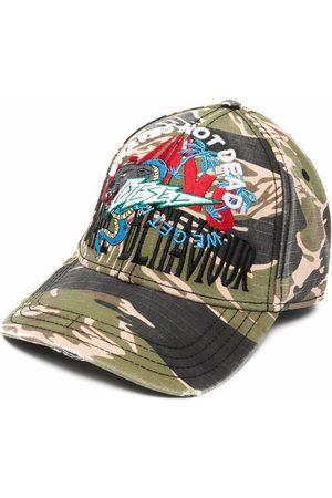 Diesel Men Caps - Tiger camouflage-print baseball cap