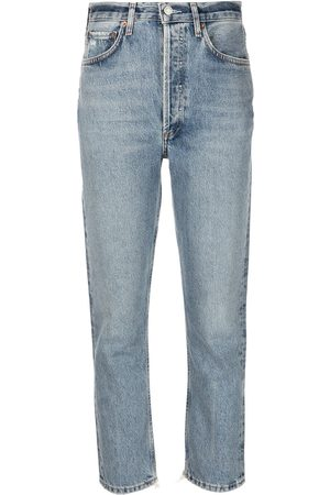 AGOLDE Women High Waisted - Riley high-rise cropped jeans