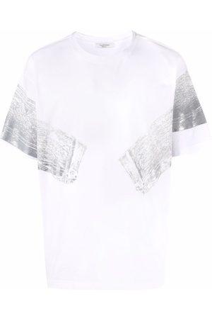 VALENTINO Denim jacket Trompe-l'œil print T-shirt