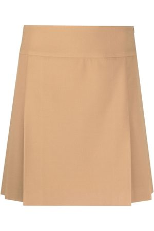 Moschino Women Pleated Skirts - Pleat-panel cavalry skirt - Neutrals