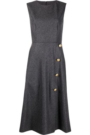 Moschino Women Sleeveless Dresses - Sleeveless flared dress - Grey