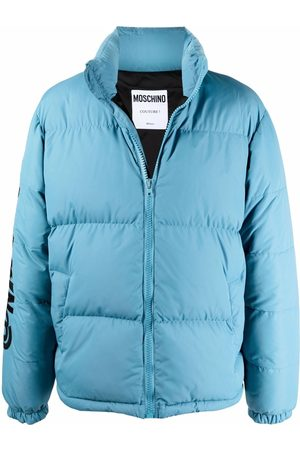 Moschino Men Puffer Jackets - Symbols logo-embroidered padded jacket