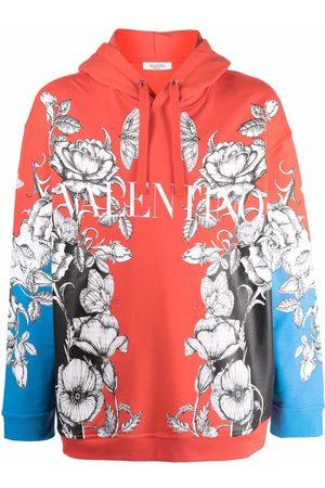 VALENTINO Men Hoodies - Dark Blooming print hoodie