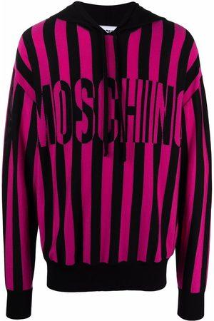 Moschino Intarsia-knit two-tone hoodie