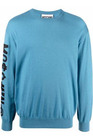Moschino Men Long sleeves - Logo-patch long-sleeve jumper