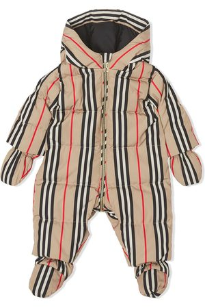 Burberry Icon stripe puffer suit