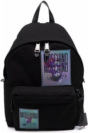 Moschino Men Rucksacks - Warped-logo backpack