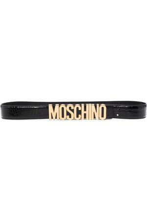 Moschino Logo-lettered skinny belt