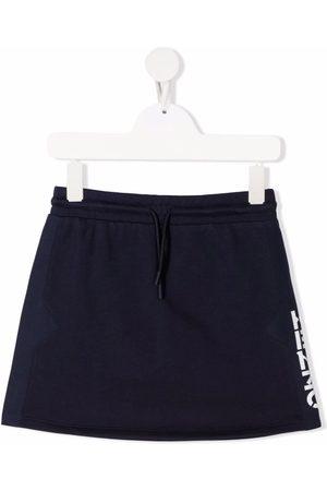 Kenzo Girls Printed Skirts - Side logo-print A-line skirt