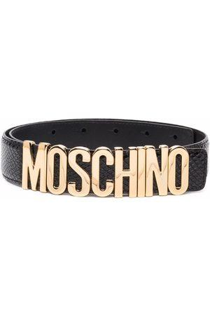 Moschino Women Belts - Logo buckle belt