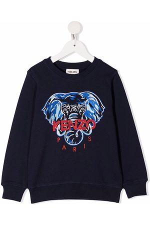 Kenzo Elephant-embroidered cotton sweatshirt