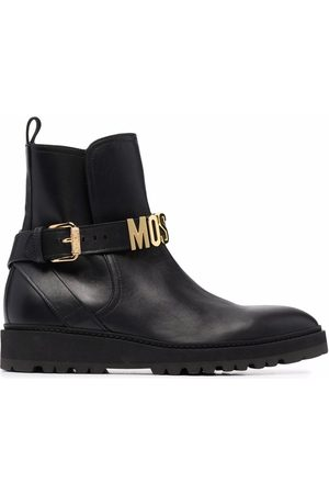Moschino Logo-lettering ankle boots