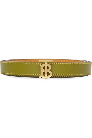 Burberry Monogram-buckle reversible belt