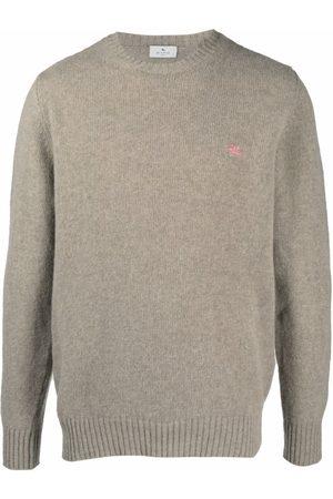 Etro Men Sweatshirts - Wool-knit jumper - Neutrals