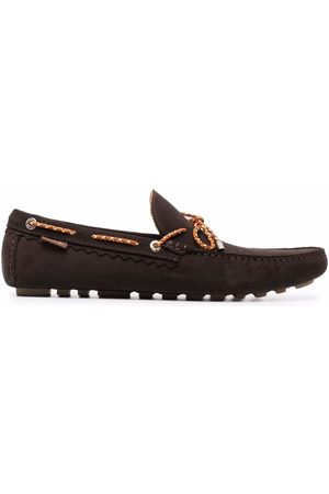 Paul Smith Lace-up detail suede loafers