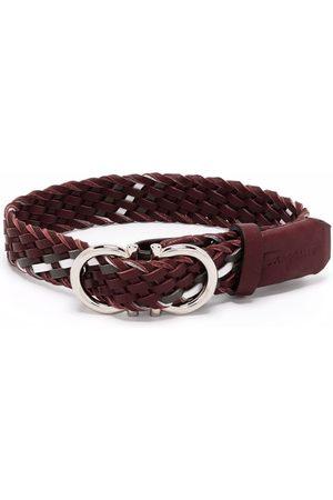 Salvatore Ferragamo Gancini buckle woven bracelet