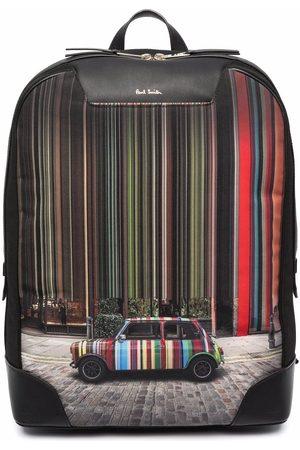 Paul Smith Signature stripe-car print backpack