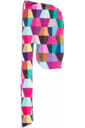 Formy Studio Men Scarves - Geometric-print head scarf