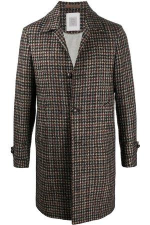 ELEVENTY Check single-breasted coat