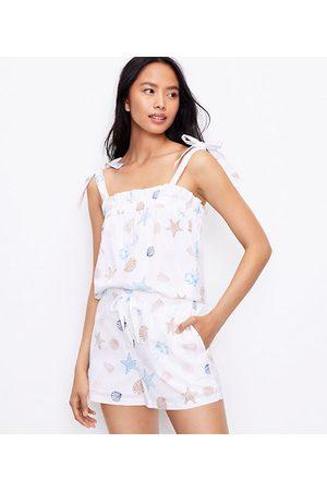 LOFT Women Camisoles - Petite Seashell Bow Strap Pajama Cami
