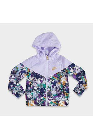 Nike Girls' Little Kids' Sportswear Windrunner Full-Zip Printed Jacket Size 4 100% Polyester