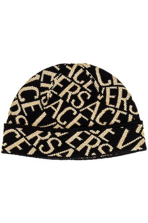 VERSACE All Over Logo Beanie in