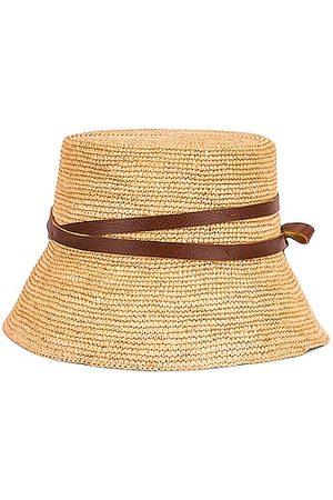 SENSI STUDIO Lamp Shade Leather Band Hat in