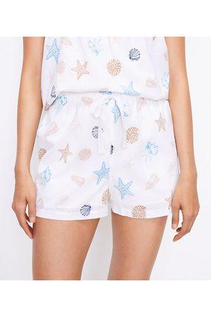 LOFT Petite Seashell Pajama Shorts