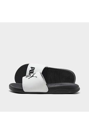 PUMA Big Kids' Popcat 20 Slide Sandals in / Size 4.0 Leather