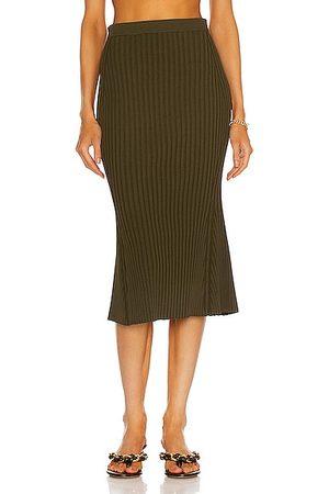 Helmut Lang Women Midi Skirts - Slash Skirt in Army