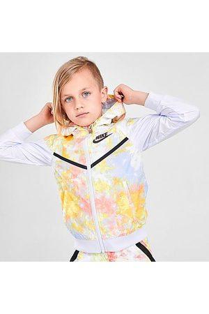 Nike Little Kids' Sportswear Wild Run Windrunner Jacket in Grey/Multi Size 4 100% Polyester/Taffeta
