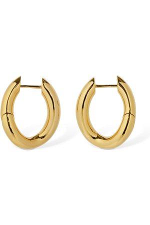Balenciaga Loop Twisted Hoop Earrings