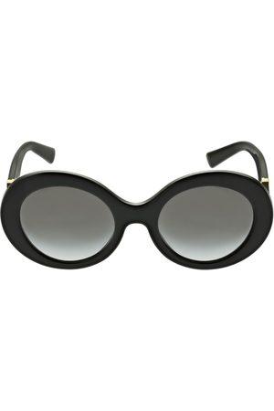VALENTINO GARAVANI V Logo Round Acetate Sunglasses