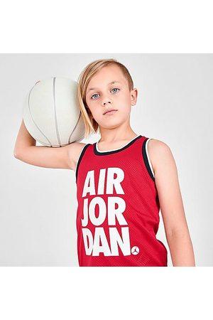 Nike Jordan Boys' Little Kids' Mesh Jersey Tank Top in /Gym Size 4 100% Polyester/Jersey