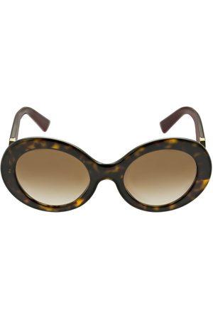 VALENTINO GARAVANI Women Round - V Logo Round Acetate Sunglasses