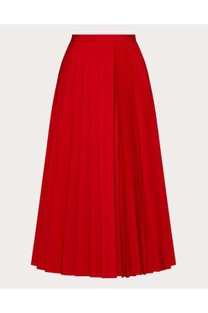 VALENTINO Women Pleated Skirts - Micro Faille Pleated Skirt Women Polyester 46%, Cotton 54% 38