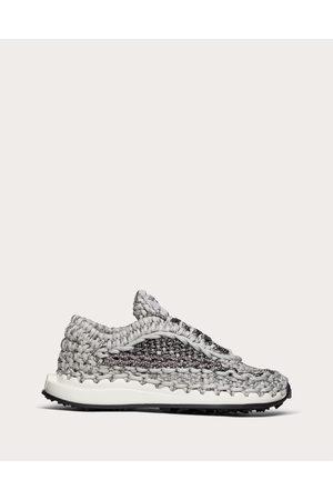 VALENTINO GARAVANI Crochet Sneaker In Fabric Women / Polyester 100% 36