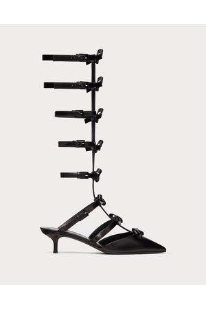 VALENTINO GARAVANI Ankle Strap Pump With Kidskin French Bows 40 Mm Women 100% Lambskin 35.5