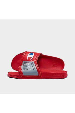 Champion Men's Squish Logo Slide Sandals in /Scarlet Size 8.0