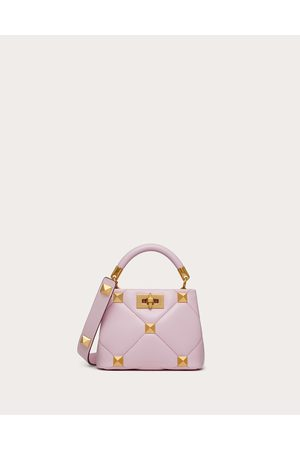 VALENTINO GARAVANI Women Shoulder Bags - Roman Stud The Handle Bag 520 In Nappa Women Borealis 100% Lambskin OneSize