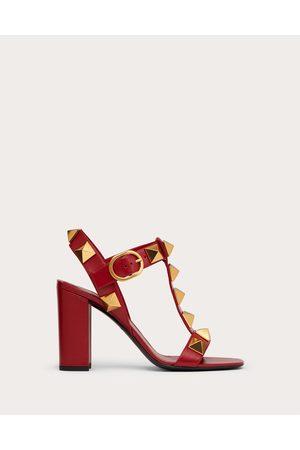 VALENTINO GARAVANI Women Heeled Sandals - Roman Stud Calfskin Sandal 90 Mm Women Rosso Valentino 100% Pelle Di Vitello - Bos Taurus 35