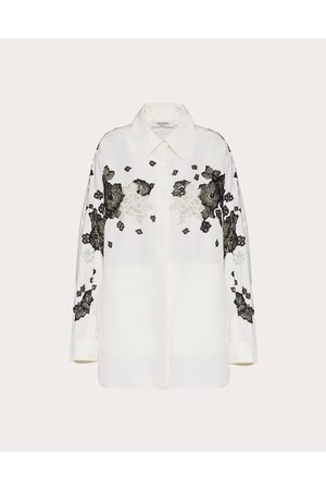 VALENTINO Women Coats - Pea Coat With Faille Embroidery Women / Silk 100% 38