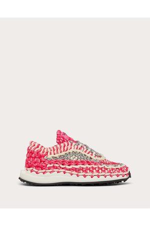 VALENTINO GARAVANI Crochet Sneaker In Fabric Women / Polyester 100% 35