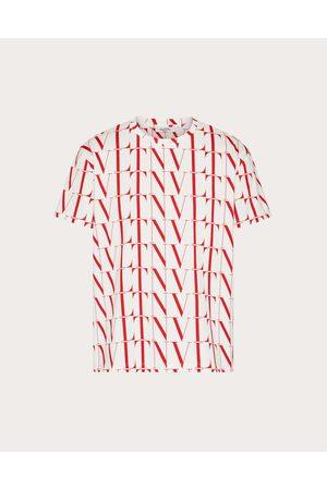 VALENTINO Men T-shirts - Cotton T-shirt With Vltn Times Print Man / Cotton 100% 3XL