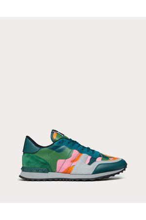 VALENTINO GARAVANI Men Sneakers - Camouflage Rockrunner Sneaker Man / 100% Pelle Di Vitello - Bos Taurus 39