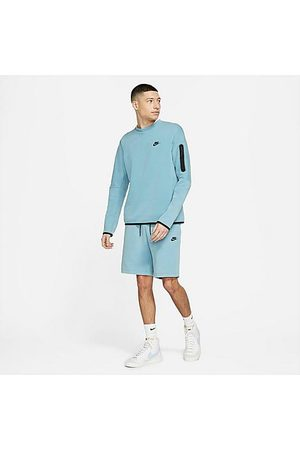 Nike Men's Sportswear Washed Tech Fleece Shorts in Blue/Cerulean Size Medium Cotton/Polyester/Fleece
