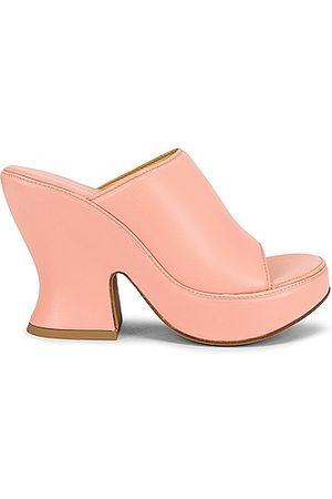 Bottega Veneta Wedge Sandals in Peach