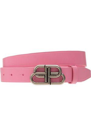 Balenciaga Women Belts - 3cm Bb Leather Belt