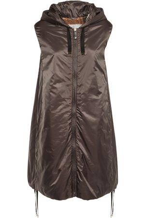 Max Mara Women Gilets - Waterproof Quilted Nylon Long Vest