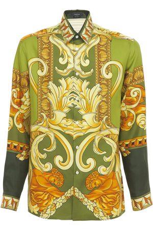 VERSACE Medusa Renaissance Print Silk Shirt